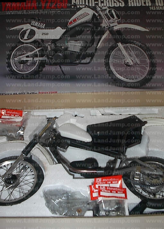Kyosho Rc Motorcycle Yamaha Vintage Landjump 18 Gas Powered 4wd